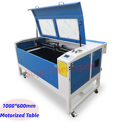 New 80w Co2 Laser Cuttingandengraving Machine 1000600mm With Motorized Table