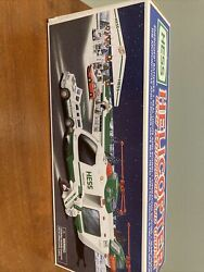 Hess 2001 Truck Helicopter With Motorcycle And Cruiser