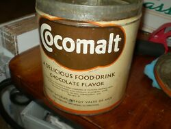 Very Scarce Large Cocomalt 5 Pound Can Tin Made For Institutional Use