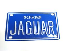 Schwinn Bicycle Plate Rare Vintage Collectible Varsity And Jaguar Rare Find