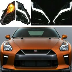 Fits 09-22 Nissan R35 Gtr Gt-r Coupe Usdm And Lhd Full Led Headlights Pair Lh Rh