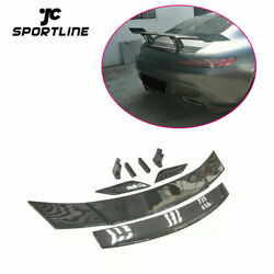 Rear Trunk Spoiler Boot Wing For Mercedes Benz Amg Gt Coupe 15-18 Carbon Fiber