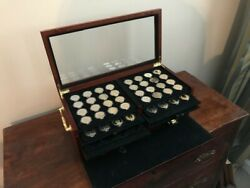 72 Coins Presidential Golden Dollar Type Set With Wood Display Box Wash To Grant