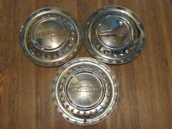 1953 53 Dodge 15 Inch Hubcaps Wheelcovers Chrome Set Of 3 X3-1903