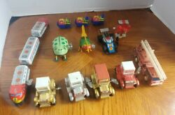 Vintage Wind Up Tin/plastic Toys Lot Of 13 Mtu + All From Hong Kong, Japan,china