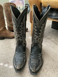 Old Gringo 10 B Black Nevada Distress Leather Cowboy Boots Western Sniptoe Rodeo