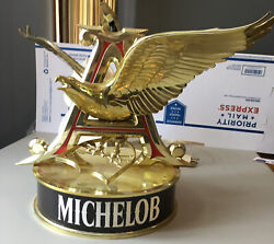 Michelob Large Gold Eagle Rotating Motion Light Advertising Bar Beer Sign