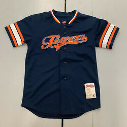 Vintage Stitches Detroit Tigers Baseball Mlb Jersey Button Up Youth Size Medium