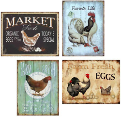 FlowerBeads Farmhouse Sign Funny Wall Signs Chicken Coop Country Decor for Home