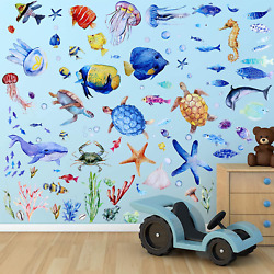 116 Pieces Under The Sea Wall Decals Fish Wall Decals Fish Wall Nursery Stickers