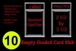 10 New Professional Unsealed Empty Graded Card Slabs Holder Grading