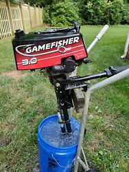 Game Fisher 3 Hp Outboard Motor Nice Air Cooled