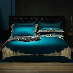2021 Home Luxury Egyptian Cotton Bedding Set Embroidered Sheets Europe