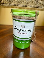Upcycled Tanqueray Tonic London Dry Gin Bottle Large Soy Candle
