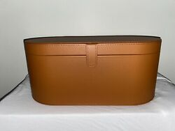 New - Dyson Airwrap Leather Case Accessory Box Air Wrap Not Included Tan