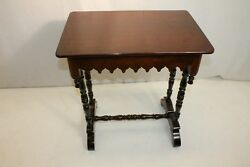 Lovely Early American Mahogany Gothic Table With One Drawer 19th C.