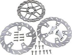 Double Xl O.s. Complete Brake Rotor Kit W/pads Tm-2950 For 14-20 Harley Flh Flt