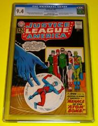 1962 Justice League Of America 14 Cgc 9.4 Ow-w Nm+ Sharp Black Cover Atom Joins