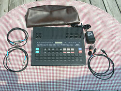 Yamaha Rx5 Drum Machine W/ Both Data Carts Cover 2- 6 Ft. 1/4 And 1-midi Cables