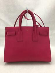 Saint Laurent 2way Leather Pink Fashion Bag 10929 From Japan