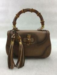 New Bamboo 2way Leather 254884 Bamboo 213317  Fashion Bag From Japan