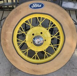 Vintage 1920's Ford Spoke Wheels And Tires