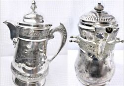 1867 Wilcox Silverplate Co .quadruple Plated Tea And Coffee Pots 150 Years Old