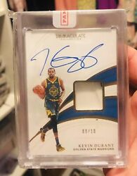 Kevin Durant 18/19 Immaculate Sneaker On Card Auto Autograph Gold 09/10