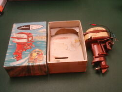 Old Kando Model Metal Outboard Johnson 35hp Motor 1950s W Box Toy Boat