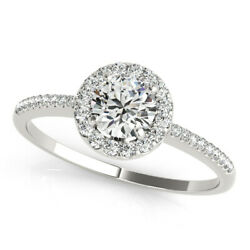 0.60 Ct Natural Diamond Wedding Promise Ring 14k Solid White Gold Size 5 6 7 8