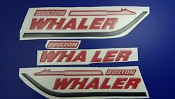 Boston Whaler Boat Emblems 18 Red Black + Free Fast Delivery Dhl Expres - Decal