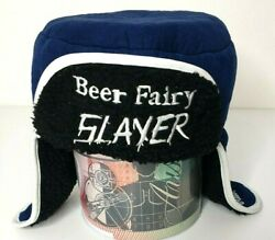 Canadian Club Cc Beer Fairy Slayer Trapper Sherpa Style Hat Collectable Rare