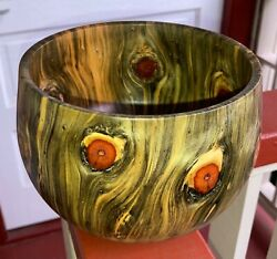 Hawaiian Wood Bowl Norfolk Pinelocal Artistgallery And Collector Quality 721-3
