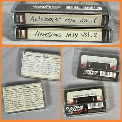 Guardians Of The Galaxy Awesome Mix Tape Vol 1 + Volume 2 Cassette Tape Lot New