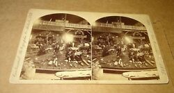 1885 New Orleans Exposition Stereoview Sioux Chief Gaul And Family Dakota Section