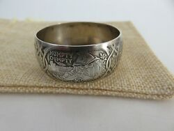 Classic Gorham Sterling Silver Nursery Rhymes Child's Napkin Ring C1900