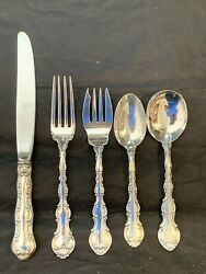 Strasbourg By Gorham Sterling Flatware Set For 4 By 5 Place Size 20 Pieces