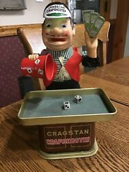 Vintage 1950s Cragstan Crapshooter Battery Operated Toy WORKS