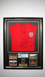 1966 World Cup Winners Shirt 11 Signatures 10 On Shirt Bobby Moore Extra Andpound999