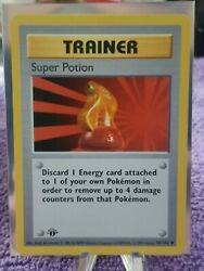 Super Potion First Edition Shadowless Excellent Pokemon Base Set 90 102