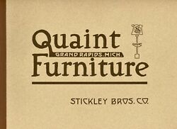 Arts And Crafts Quaint Stickley Brothers - Furniture / Scarce 1912 Catalog Reprint
