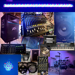 Live Sound System Pa Speakers Mixer Monitors Amps Lighting Drums Etc.