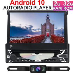 7'' Flip Out Touch Screen Single 1 Din Android 10 32gb Car Radio Dvd Video Ccd