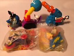 1993 Warner Bros Lot Of 5 Animaniacs Mcdonalds Happy Meal Toys Pinky And The Brain