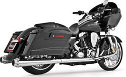 American Outlaw Chrome Dual Full Exhaust Frp. Hd00284 For 09-16 H-d Flh Flt