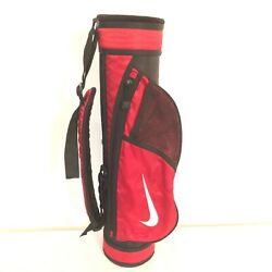 Nike Youth Red Black Golf Carry Bag With Adjustable Straps