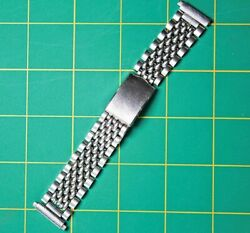 Vintage 18mm Bambi Beads Of Rice Stainless Steel Watch Bracelet / Band