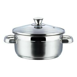 Indian Stainless Steel Bremen Saucepot With Glass Lid 2 Ltr