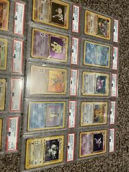 Fossil 1st Edition Psa Set - Mostly All Psa 8 - All But Gengar. 14/15 Holos Inc