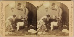 Comic The Rat In Home Photo Griffith Stereo Vintage Albumin 1894